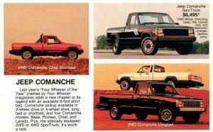Comanche 2wd & 4wd